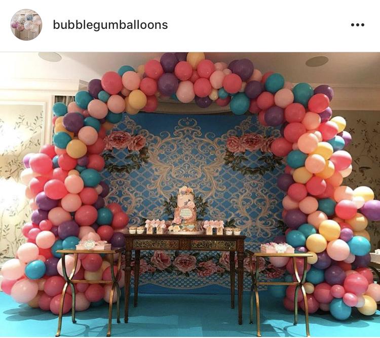Bubblegum Balloons Installation