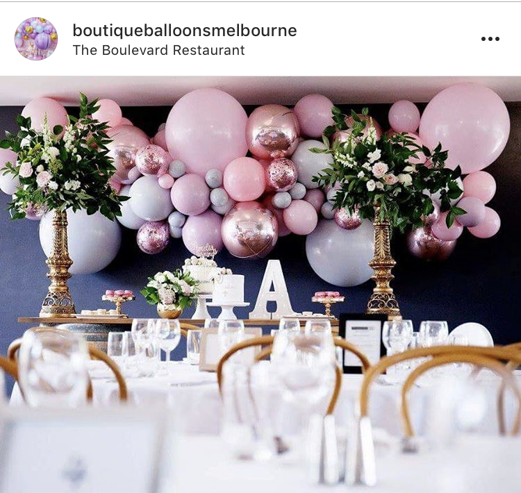 Boutique Balloons Melbourne Pink Installation