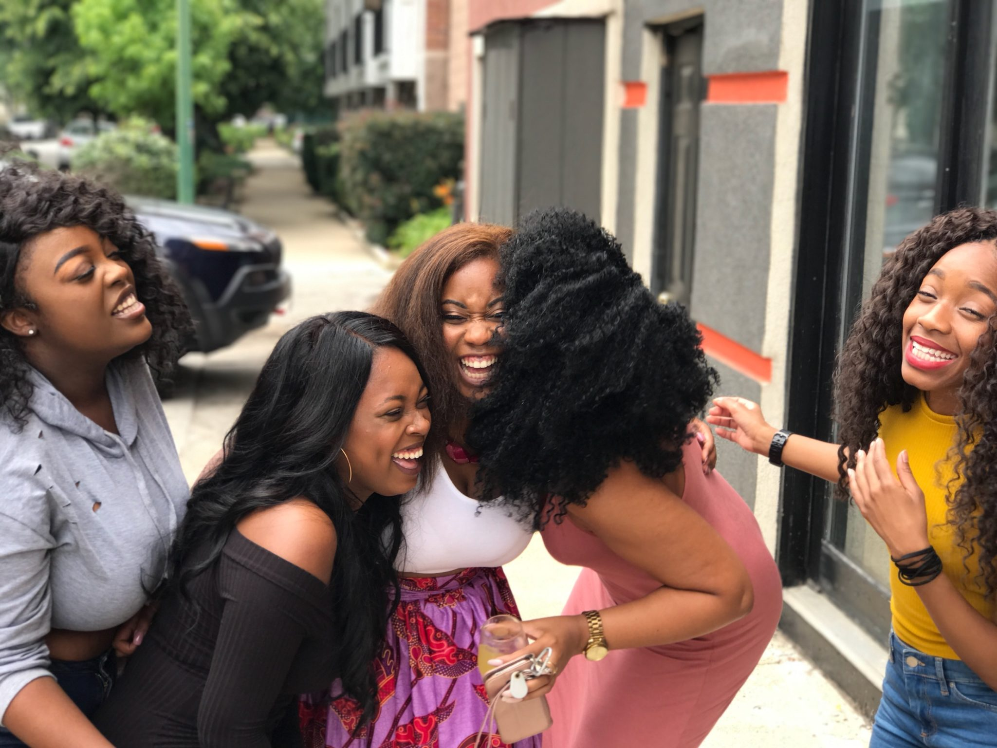 Black Girl Friends Laughing