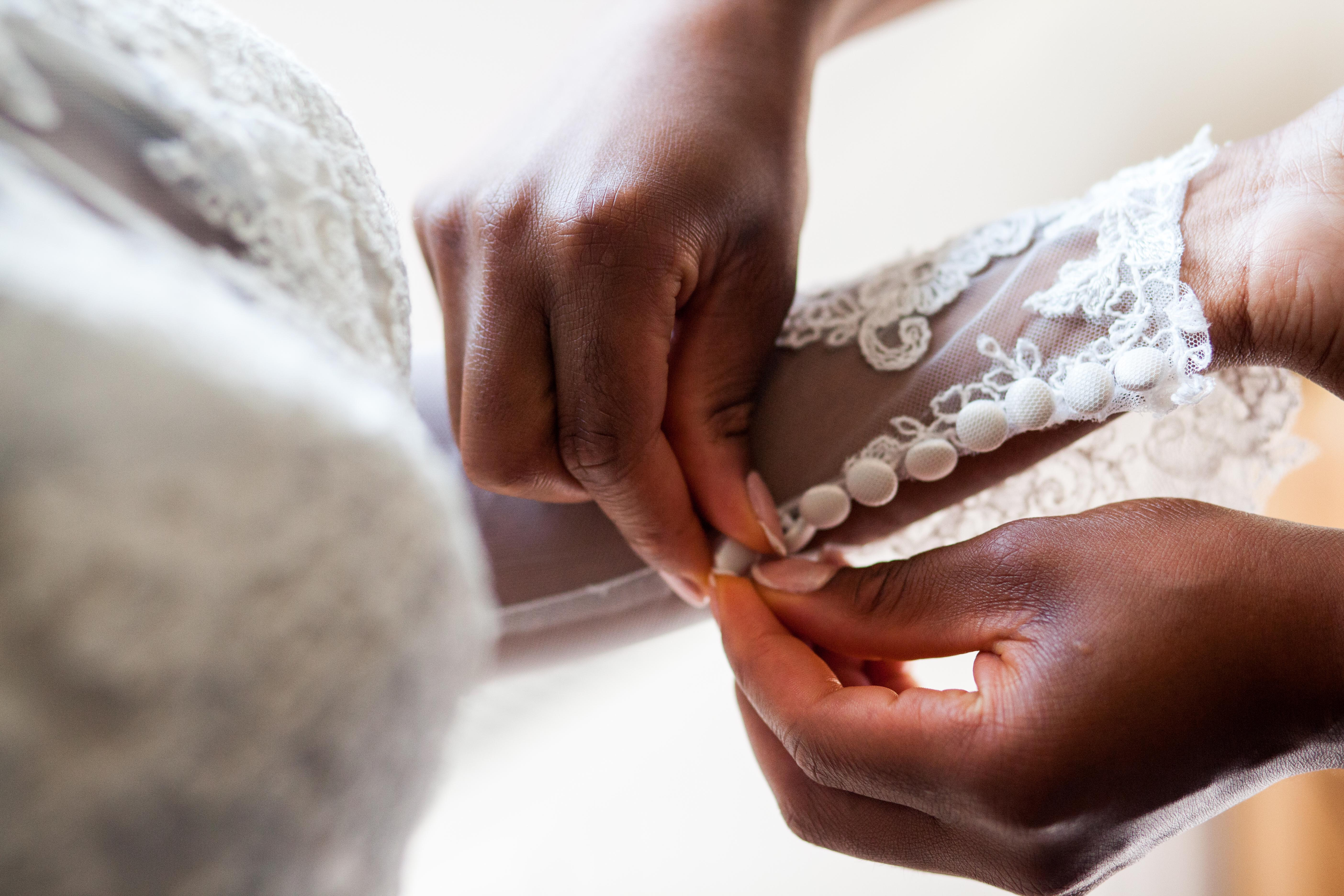 Lace Detail on Bridal Gown