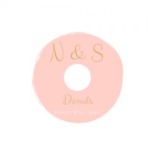 N _ S Donuts logo white background